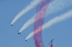 Patrouille de France at an air show Royalty Free Stock Image