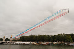 Patrouille de France for the Bastille Day in Paris - La PAF pour le 14 Juillet à Paris Royalty Free Stock Photography