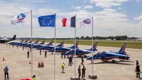 Patrouille de France flags Royalty Free Stock Images
