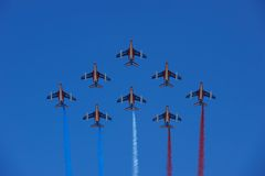 Patrouille de France formation flight Royalty Free Stock Images