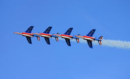 Patrouille de France formation royalty free stock image
