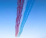 Patrouille De Frankreich, Paris, Frankreich Lizenzfreies Stockbild
