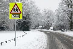 Patrouille de neige photographie stock libre de droits