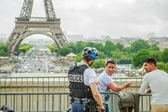 Patrouille de Tour Eiffel Photo stock