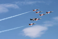 Patrouille Suisse acrtobatic team at Payerne Air14 royalty free stock photography