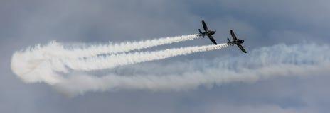 Patrouille-suisse aerobatic Geschwader von der Schweizer Luftwaffe Stockbild
