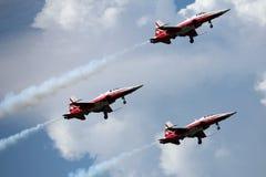 Patrouille Suisse bei Payerne Air14 Lizenzfreies Stockfoto