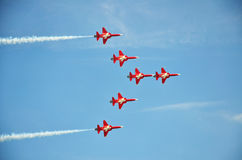 patrouille suisse formation flight Royalty Free Stock Photography