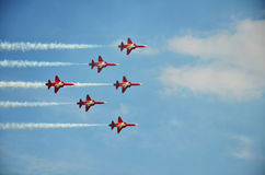 patrouille suisse formation flight Stock Photography