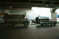 Patrouille thaïe d'armée dans le grand dos du Siam Image stock