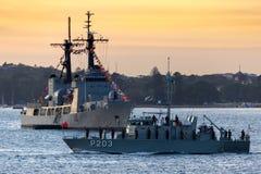 Patrouillenboot VOEA Savea P203 der tongaischen Verteidigungs-Services in Sydney Harbor stockbilder