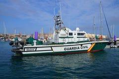 Patrouilleur côtier nautique civil de Guardia d'Espagnol Images libres de droits