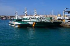 Patrouilleurs nautiques civils de Guardia d'Espagnol Photo stock