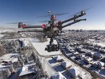 Patrulha aérea do inverno Foto de Stock