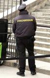 Patrulha da cidade do museu do agente de segurança Fotografia de Stock Royalty Free