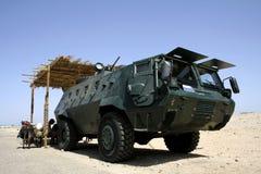 Patrulha egípcia do carro de polícia Imagens de Stock