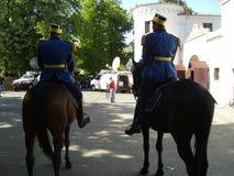 Patrull på hästrygg Royaltyfria Bilder