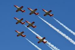 Patrulla Aguila/住处C-101 Aviojets 库存照片