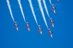Patrulla Aguila acrobatic squad Royalty Free Stock Photo