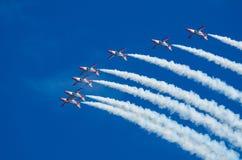 Patrulla Aguila acrobatic squad Royalty Free Stock Photos