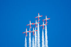 Patrulla Aguila acrobatic squadron Royalty Free Stock Photo