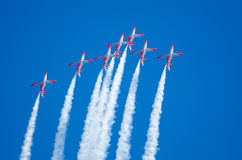 Patrulla Aguila acrobatic squadron Stock Photography