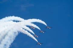 Patrulla Aguila acrobatic squadron Stock Photo