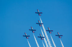 Patrulla Aguila acrobatic squadron Royalty Free Stock Photography