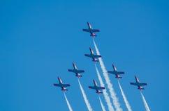 Patrulla Aguila acrobatic squadron Royalty Free Stock Photography