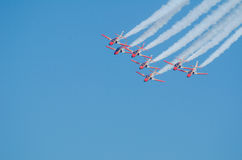 Patrulla Aguila acrobatic squadron Royalty Free Stock Photos
