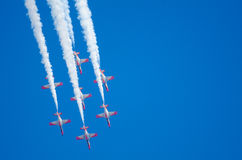 Patrulla Aguila acrobatic squadron Stock Images