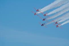 Patrulla Aguila akrobatyczna eskadra Zdjęcia Stock