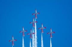 Patrulla Aguila akrobatyczna eskadra Zdjęcia Royalty Free