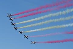 Patrulla Aguila, CASA C-101 Aviojets/ Obraz Royalty Free
