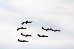 Patrulla Aguila, maneuvers. Spain. Stock Images