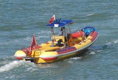 Patrulla de alta velocidad del puerto de la COSTILLA Foto de archivo libre de regalías