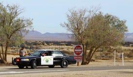 Patrulla de la carretera de California Imágenes de archivo libres de regalías