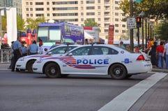 Patrulla de los coches policía, Washington DC Fotografía de archivo