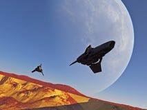 patrullspaceships två Arkivbilder