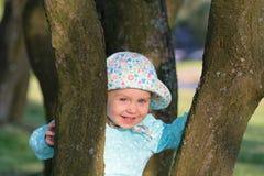 Patrycja amongst trees 1 Royalty Free Stock Photos