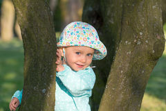 Patrycja amongst trees 3 Stock Image