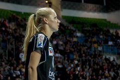 Patrycja Krolikowska, jogador do handball de Pogon Baltica Szczecin Foto de Stock Royalty Free