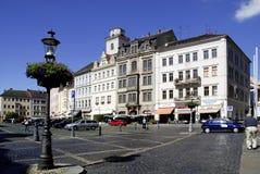 Patrycjalni domy Zittau w Niemcy Obraz Royalty Free