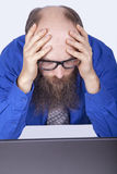 Patrzeć i myśleć - biznesmen - (serie) Fotografia Stock