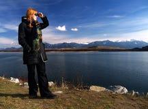 patrzeć na odległość fotografia stock