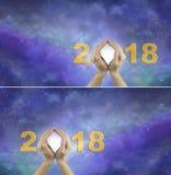 Patrzeć naprzód w 2018 tło Obrazy Stock