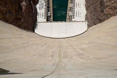 Patrzeć W dół Ścienny Hoover tama przy Kolorado rzeką zdjęcia stock