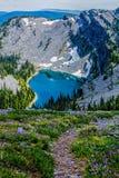 Patrzeć W dół Na Baldy jeziorze Zdjęcie Royalty Free