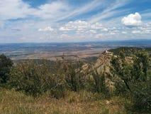 Patrzeć w dół od góry przy krajobrazem zdjęcie stock