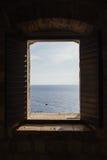 Patrzeć Przez Fortecznego okno w Chorwacja Obrazy Stock